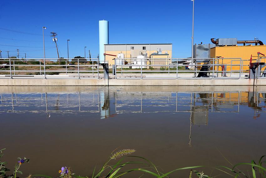 Water treatment facility in Rio Bravo, Texas.