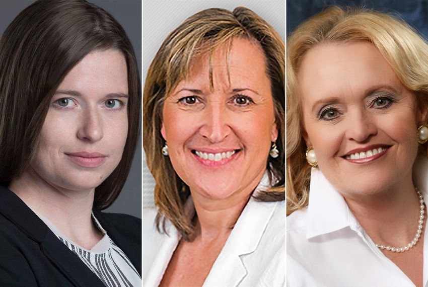 Allison Campolo (left) and Beverly Powell (right) are the Democratic candidates vying to unseat incumbent state Sen. Konni Burton, R-Fort Worth (center).