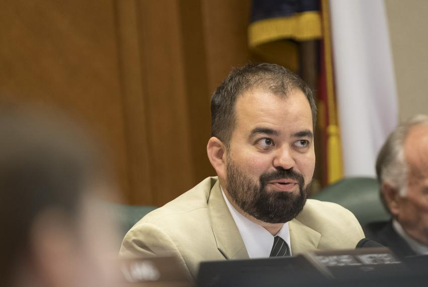 Chairman of the House Criminal Jurisprudence Committee Joe Moody, D-El Paso, listens to testimony on March 13, 2017.