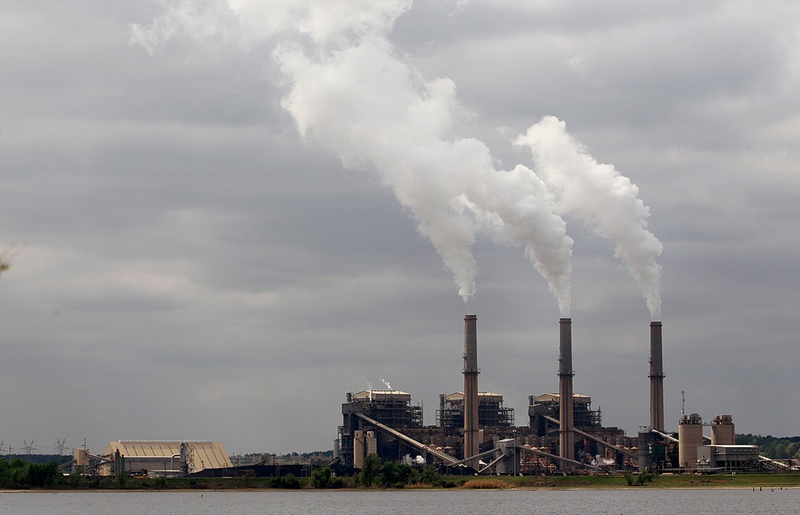 Steam rises from the stacks at the Martin Lake Coal-Fired Power Plant in Tatum, TX March 30, 2011.