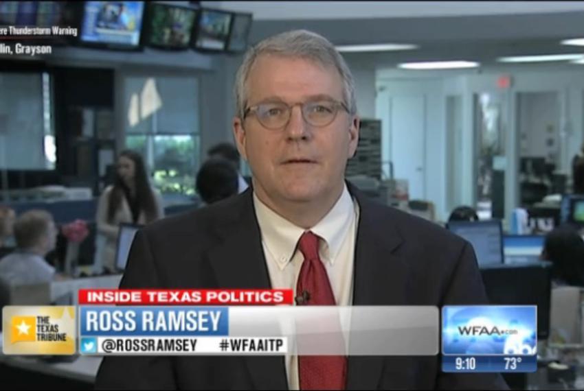 "Texas Tribune Executive Editor Ross Ramsey on WFAA-TV's ""Inside Texas Politics"" on May 18, 2014."
