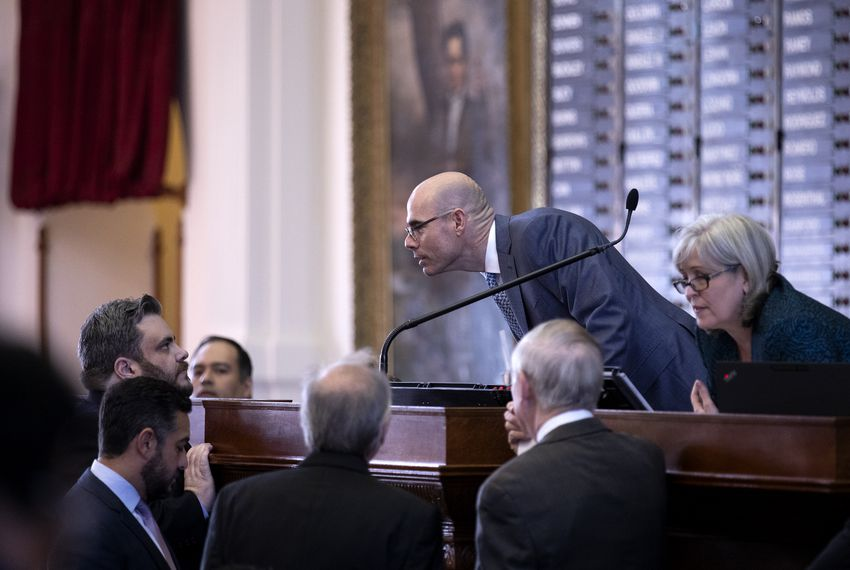 House Speaker Dennis Bonnen presiding over his first votes as speaker of the house. Jan. 9, 2019.
