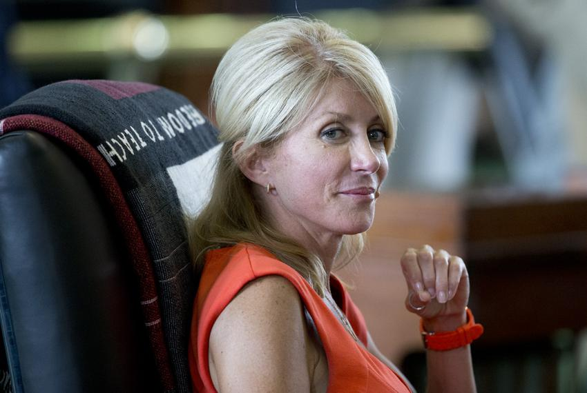 Sen. Wendy Davis, D-Ft. Worth, listens to an explanation of the Senate rules during the second special session on July 1, 20…
