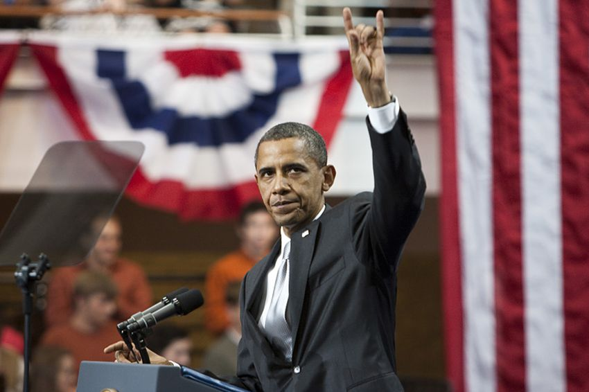 President Obama at the University of Texas on Monday, August 9, 2010.