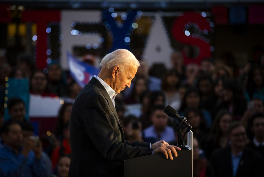Then-Democratic presidential candidate and Vice President Joe Biden at a campaign event in San Antonio on Dec. 13, 2019.