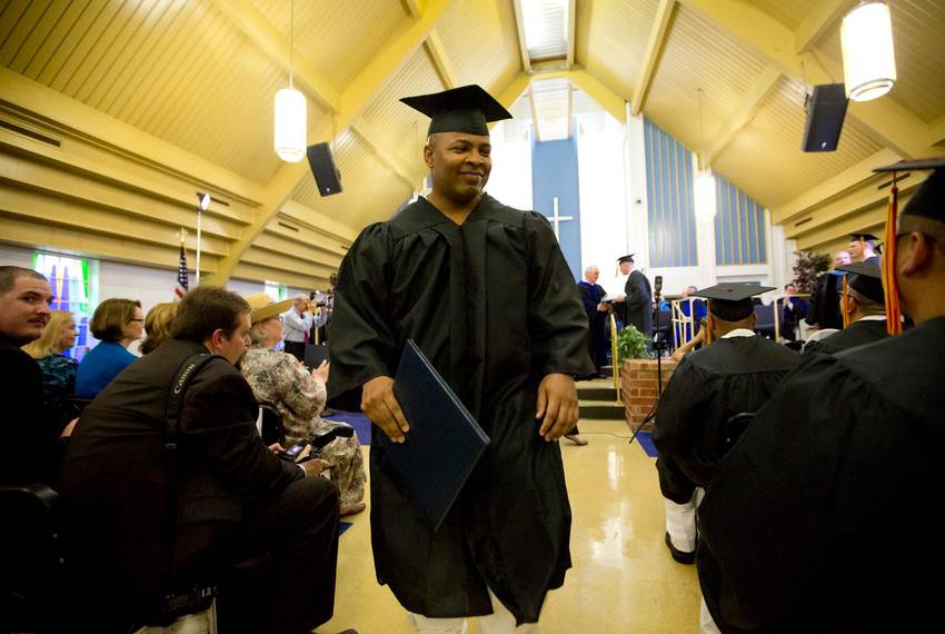 One of the 33 inmates who graduated from the prison seminary program at the Darrington Unit. By some measures, troublemaki...