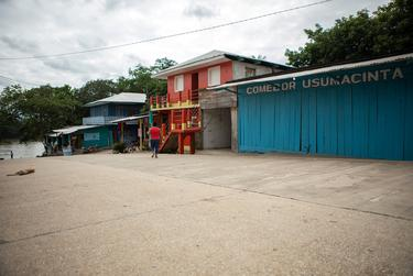 The main street in La Tecnica, Guatemala on Nov. 17, 2019.