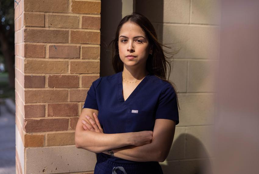 Maria Manzanilla, an ICU nurse at University Health hospital in San Antonio, has mainly treated COVID-19 patients since the …