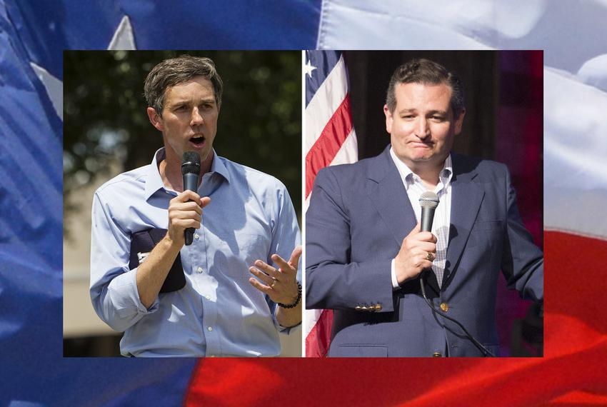 U.S. Rep. Beto O'Rourke (left), D-El Paso, and U.S. Sen. Ted Cruz, R-Texas.