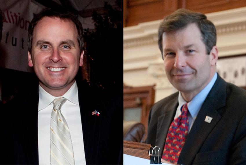 State Reps. Bryan Hughes, R-Mineola, and David Simpson, R-Longview, competed in a runoff in the GOP race for Senate District…