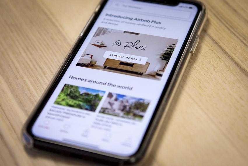 The iPhone Airbnb app. March 26, 2019.
