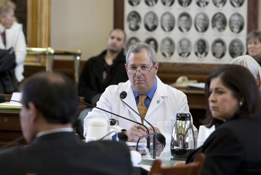 Dr. Scott Spear, a pediatrician, testifies before the Senate State Affairs Committee on February 9, 2011