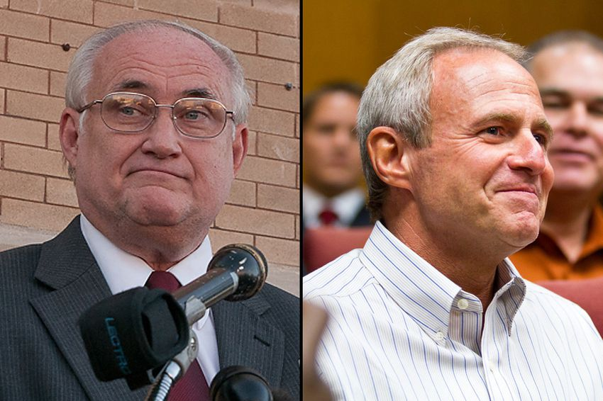 Judge Ken Anderson (l) and Michael Morton (r)