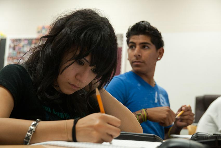Austin High school students in the credit recovery program part of the Hechinger Institute.