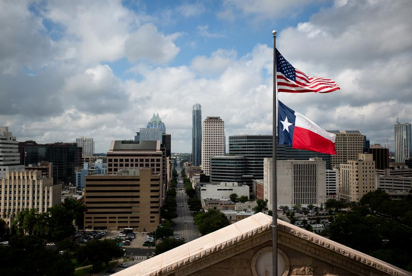 View from the Capitol Rotunda in Austin.