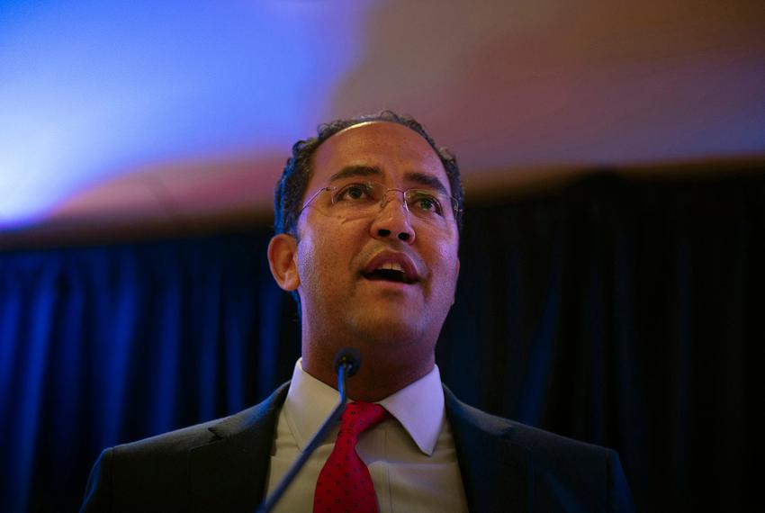 U.S. Rep. Will Hurd, R-San Antonio, speaks at his election watch party at the Hotel Elian in San Antonio on November 8, 2016.