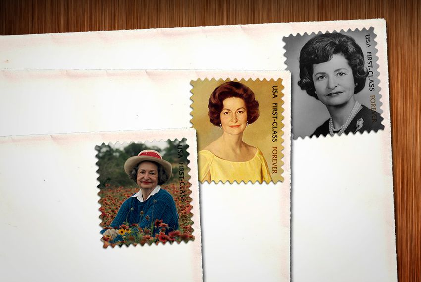 Former First Lady Lady Bird Johnson is being recognized by the U.S. Postal Service with a commemorative Forever stamp.