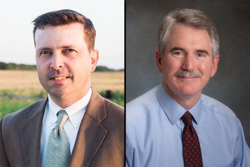 Chris Evans (left) and state Rep. J.D. Sheffield, R-Gatesville.