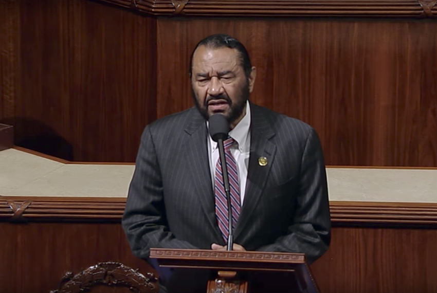 U.S. Rep. Al Green, D-Houston, speaking in favor of the impeachment of President Trump from the floor of Congress on May 17,…