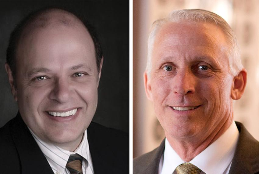 Former state Rep. George Lavender, left, is challenging state Rep. Gary VanDeaver, right, in the Republican primary for Texa…