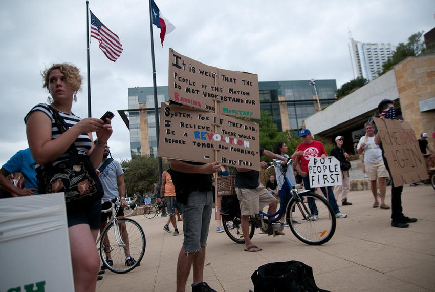 Occupy Austin at City Hall on Oct. 6, 2011