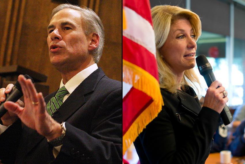 Greg Abbott, then a candidate for governor and now the governor-elect, spoke at a NE Tarrant Tea Party meeting at Concordi...