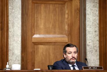 U.S. Senator Ted Cruz, R-Texas, during a Senate Judiciary Committee hearing on Capitol Hill in Washington D.C. on Nov. 17, 2020.