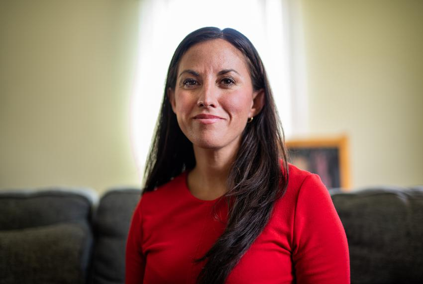 Author and Democratic U.S. Senate candidate Cristina Tzintzún Ramirez at her home in Austin on Jan. 31, 2020.
