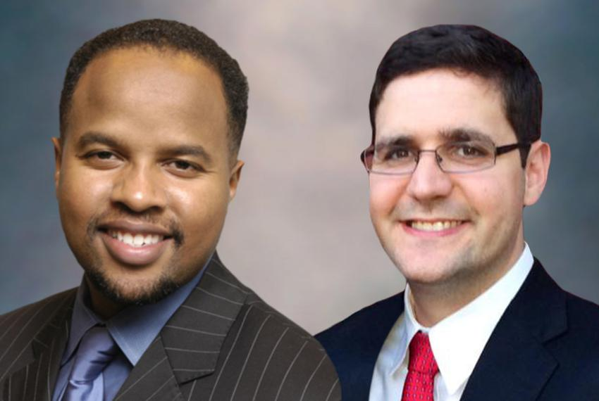 State Rep. Ron Reynolds, D-Missouri City, and David Hamilton, his Republican challenger in the House District 27 race.