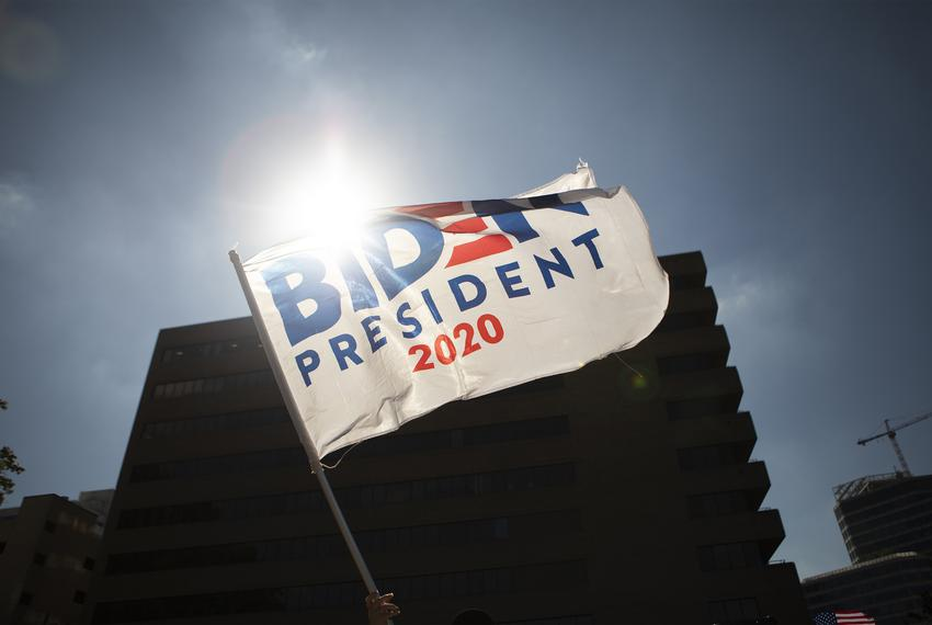 Supporters of President-elect Joe Biden gathered in downtown Austin to celebrate. Nov 7, 2020.