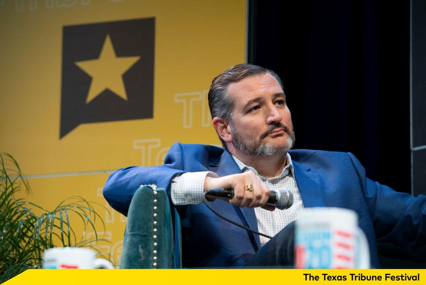 U.S. Sen. Ted Cruz, R-Texas, at The Texas Tribune Festival on Saturday, Sept. 28, 2019.