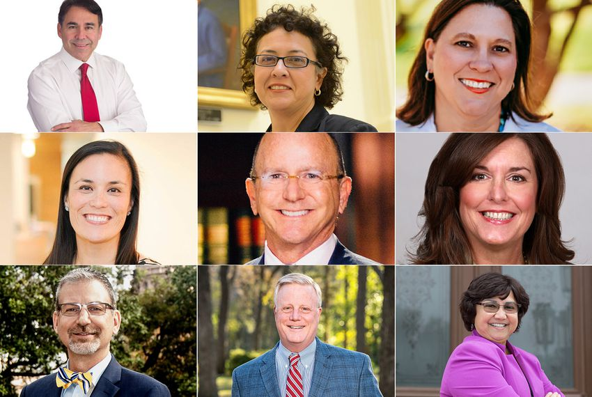 Some of the LGBTQ Texas candidates running for public office in 2018.Top row, left to right:Mauro Garza,Celia Israel andJulie Johnson. Middle row:Gina Ortiz Jones,Steven Kirkland andShannonMcClendon. Bottom row:Jeffrey Payne,Mark Phariss andLupe Valdez.
