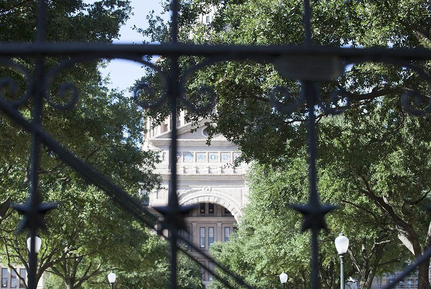 The south entrance of the Capitol in Austin on August 9, 2016.