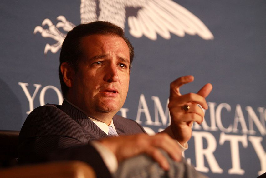 Sen. Ted Cruz, R-Texas, speaking at the 2013 Young Americans for Liberty National Convention at George Mason University in Arlington, Virginia on July 31, 2013.