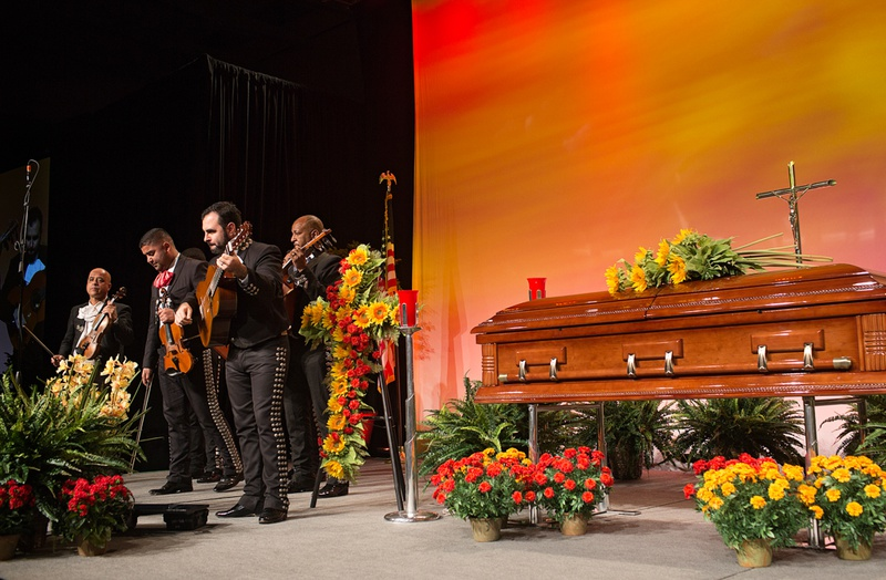 """Mariachi Estrella performs during """"A Service for Remembrance,"""" at the National Funeral Directors Association convention on Oct. 22, 2013, in Austin. The service honored deceased funeral directors and highlighted Mexican funeral traditions."""