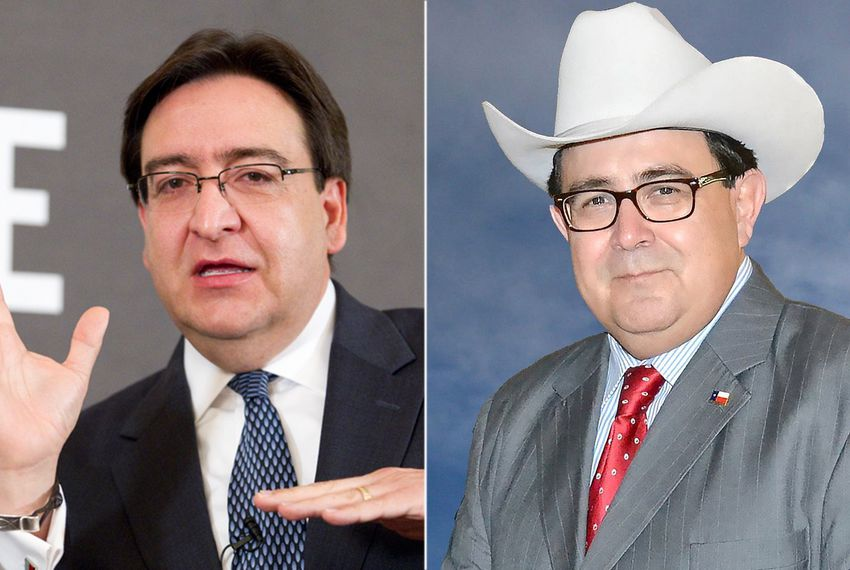Former U.S. Rep. Pete Gallego (left), a Democrat, and Republican Peter Flores are running for state Senate District 19.