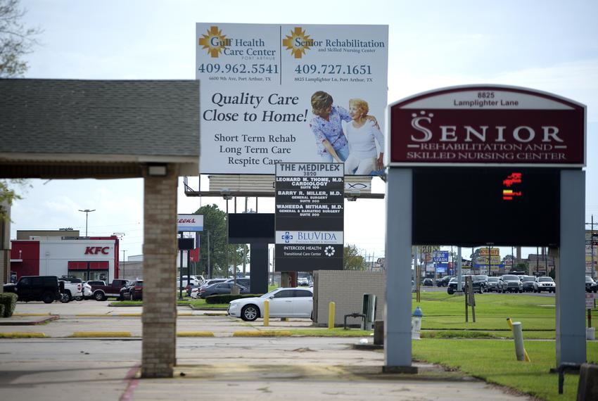 The Senior Rehabilitation & Skilled Nursing Center in Port Arthur on Sept. 3, 2020.