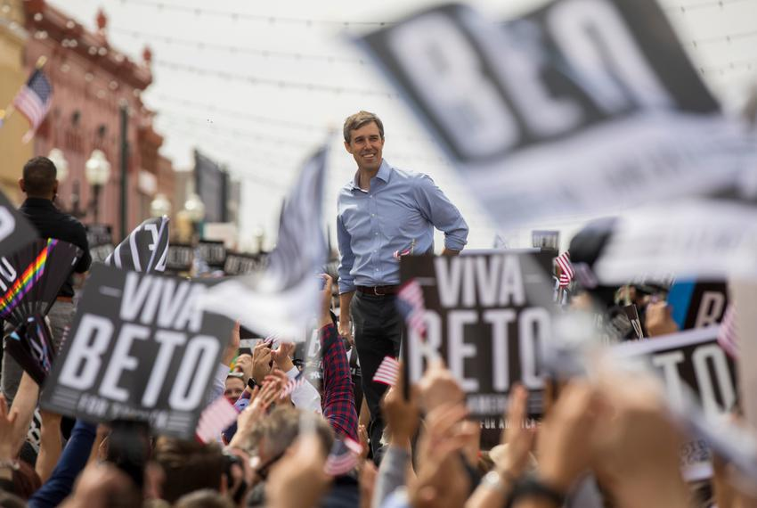 Beto O'Rourke holds his first official 2020 presidential campaign rally on March 30, 2019 in El Paso.