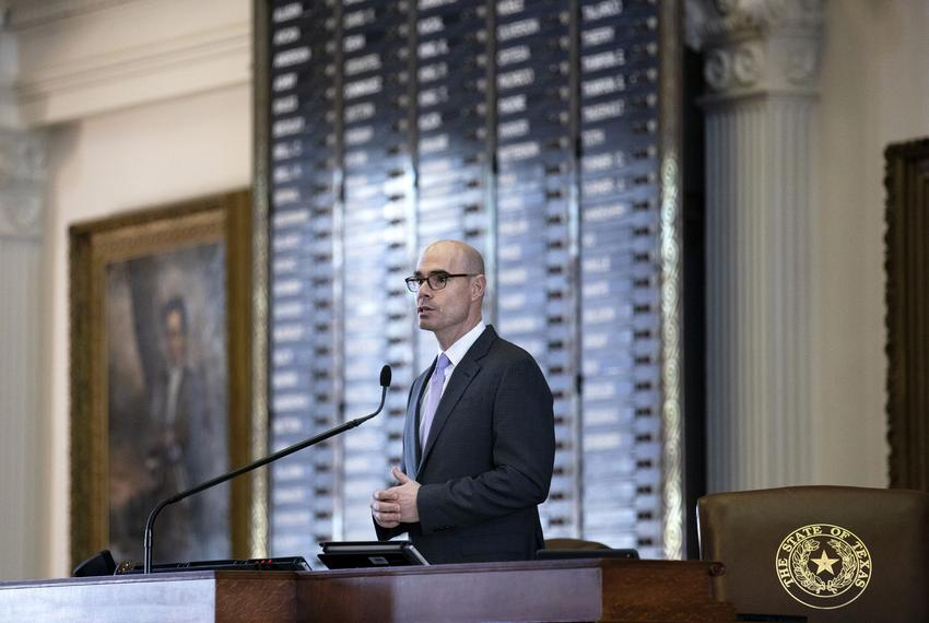 House Speaker Dennis Bonnen announces committee assignments at the state Capitol on Jan. 23, 2019.