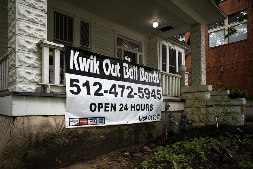 Kwik Out Bail Bonds on 18th St. and Nueces in Austin on May 8, 2019.