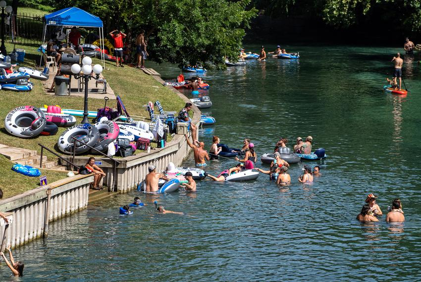Tubing in New Braunfels on July 4, 2020.