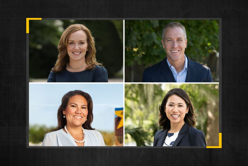 Clockwise from top left: U.S. Rep. Kathleen Rice, D-NY; U.S. Rep. Sean Patrick Maloney, D-NY; U.S. Rep, Stephanie Murphy, D-FL; U.S. Rep. Veronica Escobar, D-TX.