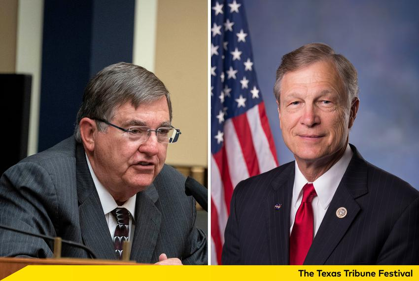 U.S. Rep. Michael Burgess, R-Texas, and U.S. Rep. Brian Babin, R-Texas.