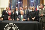 Gov. Greg Abbott announces staff changes in a Capitol press conference on Sept. 18, 2017.