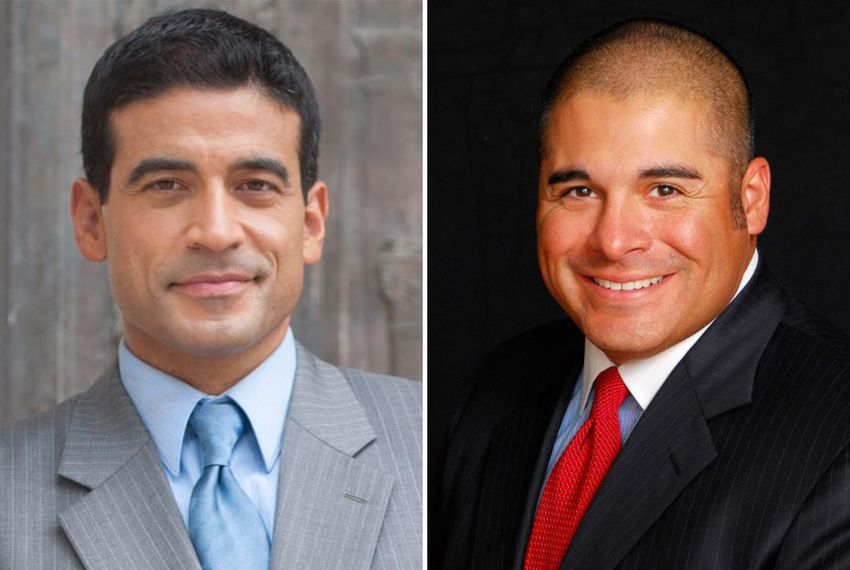 Bexar County District Attorney Nico LaHood (left) and McLennan County District Attorney Abel Reyna lost their 2018 primary races.