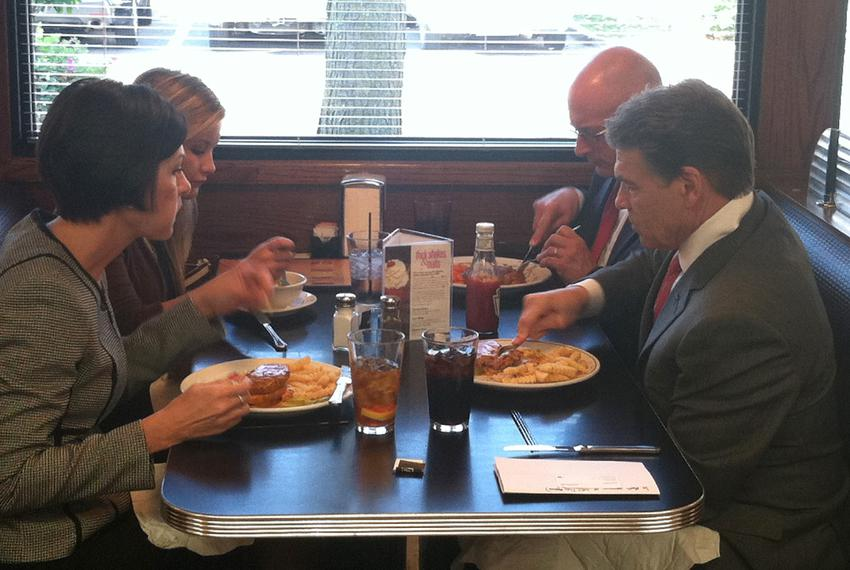 Perry at Drake Diner in Des Moines