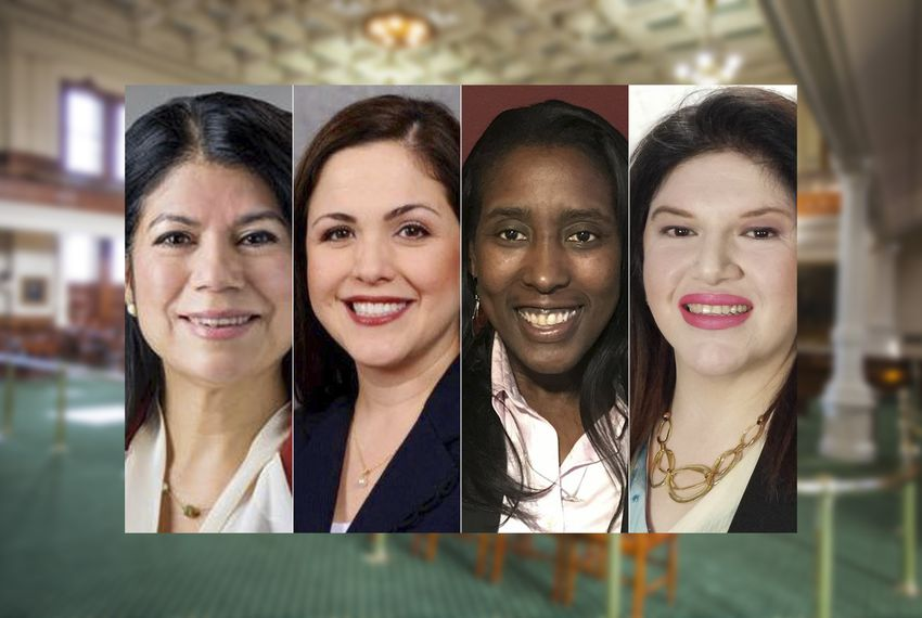 The candidates in the special election to replace Sylvia Garcia in Senate District 6 are, left to right, State Reps. Carol Alvarado and Ana Hernandez, both Houston Democrats; Democrat Mia Mundy and Republican Martha Fierro.