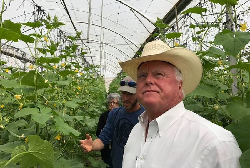 Texas Agriculture Commissioner Sid Miller toursthe Naama Agricultural Community in Israel'sJordan Valley.