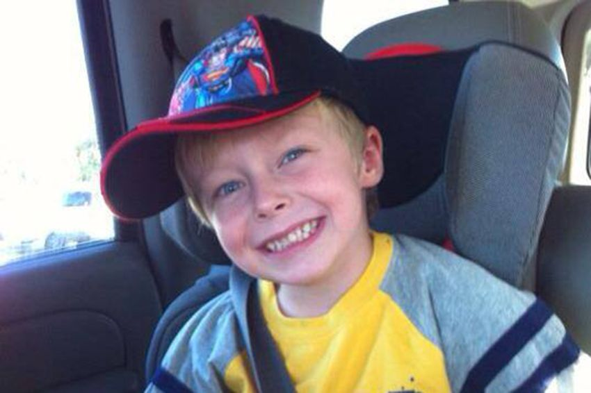 """Wyatt McDanieldied in an accident while playing in a sand pile with his little brother on Jan. 25, 2013. His mother, Lara McDaniel, was not able to view his body until after his autopsy and is advocating for Texas lawmakers to adopt """"Wyatt's Law."""""""