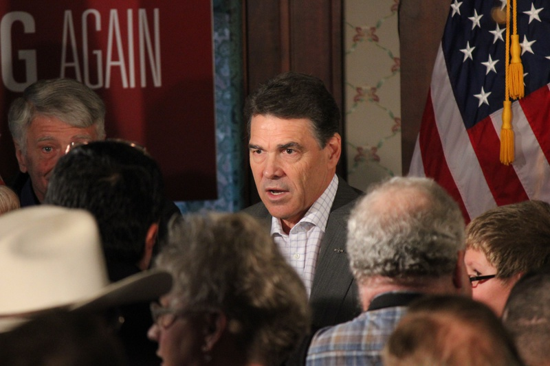 Gov. Rick Perry in Council Bluffs, Iowa, on Dec. 14, 2011